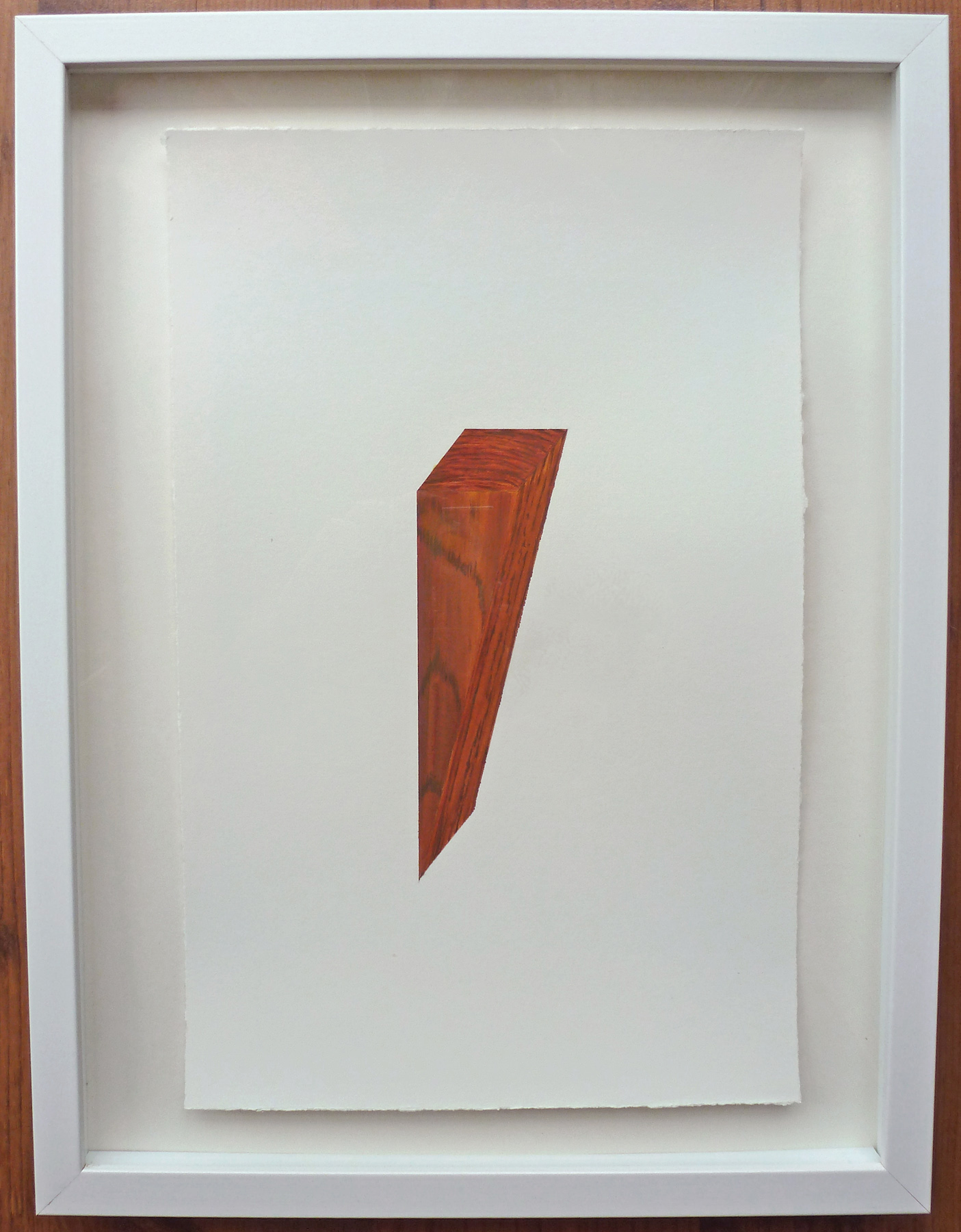 "Cedar Wedge #1 , 2013, acrylic on paper, 12.5"" x 16.5"" (framed)"