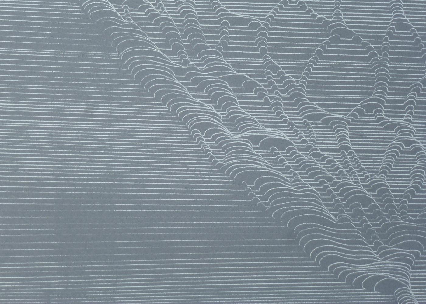 White Net #3  (detail)2014, white transfer on paper