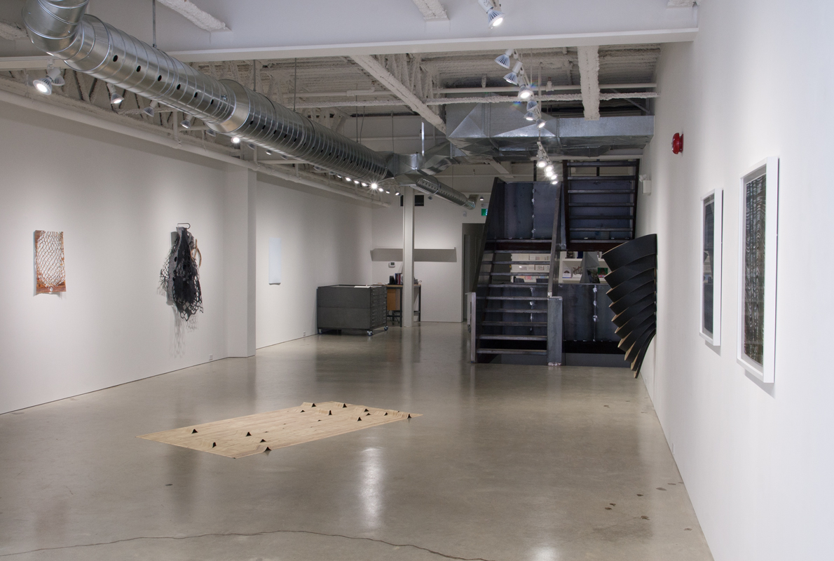 Installation view,  The Sliced Belly of the Berm , DNA Artspace, London, Ontario, 2014. Photo: Ruth Skinner.