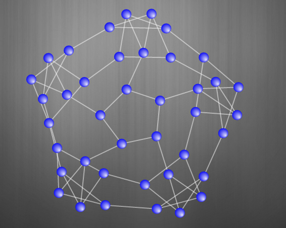 Snark graph with 40 vertices