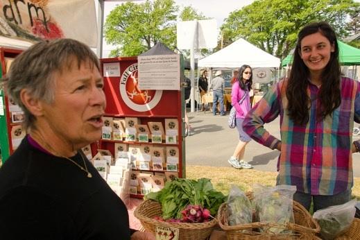 Mary and I at Moss Street market