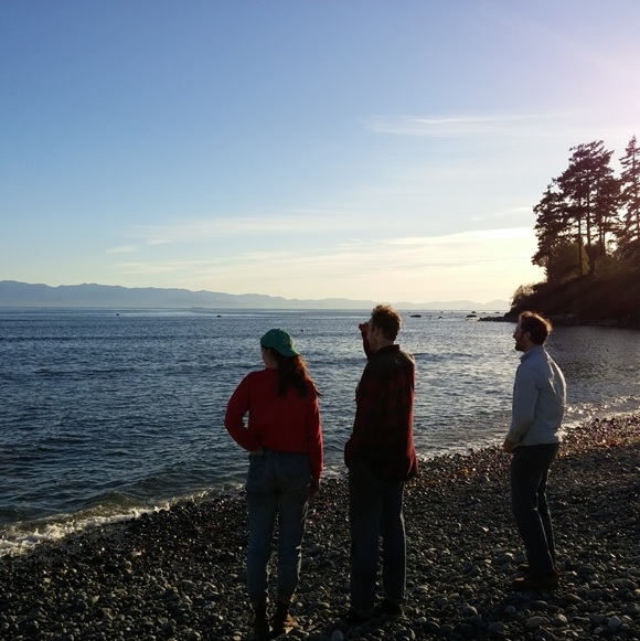 At the Whiffin' Spit, where we'd collect seaweed for the garden.