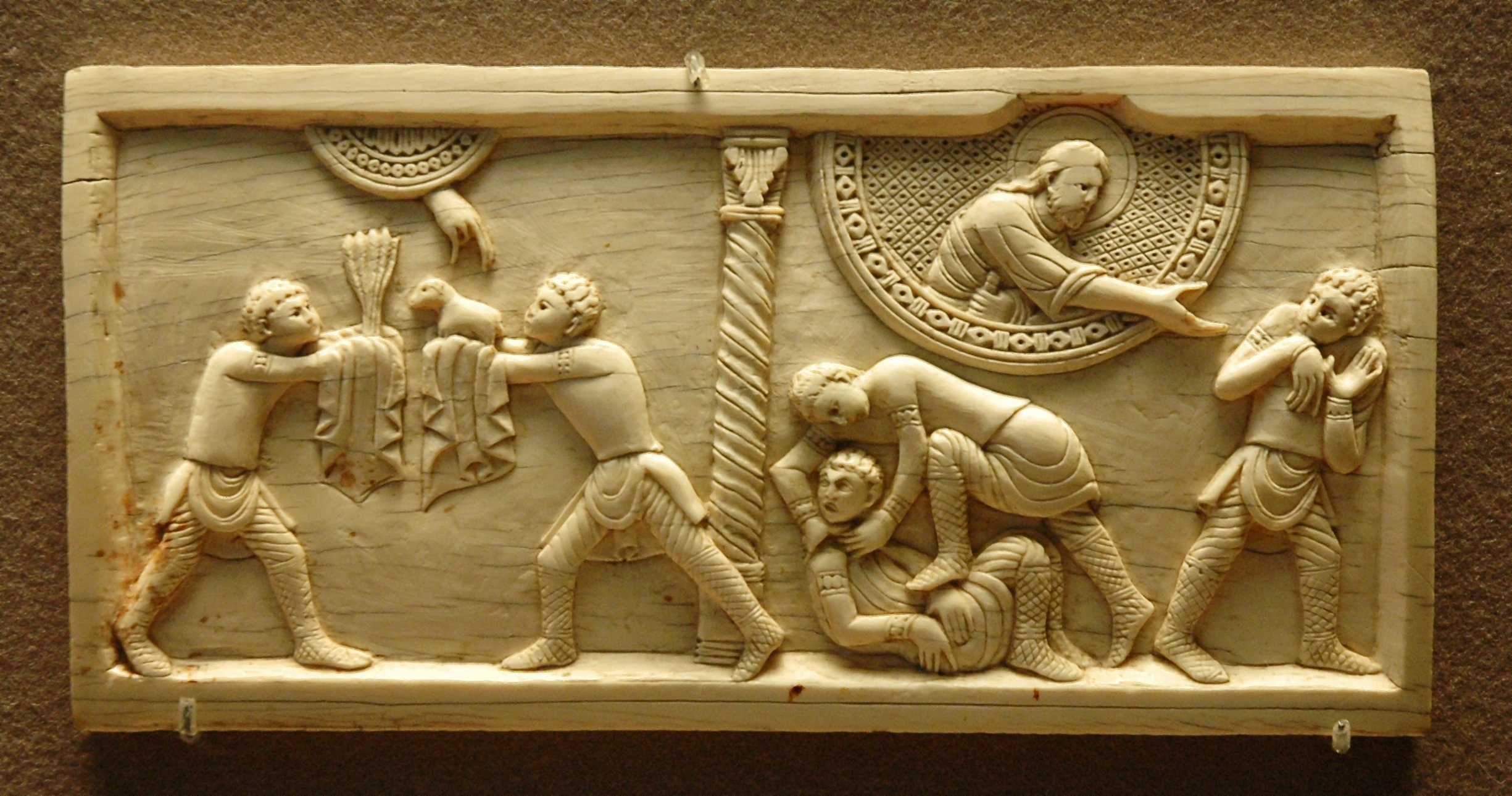 Wikimedia Commons - Ivory Panel,  Louvre Museum   Cain & Abel