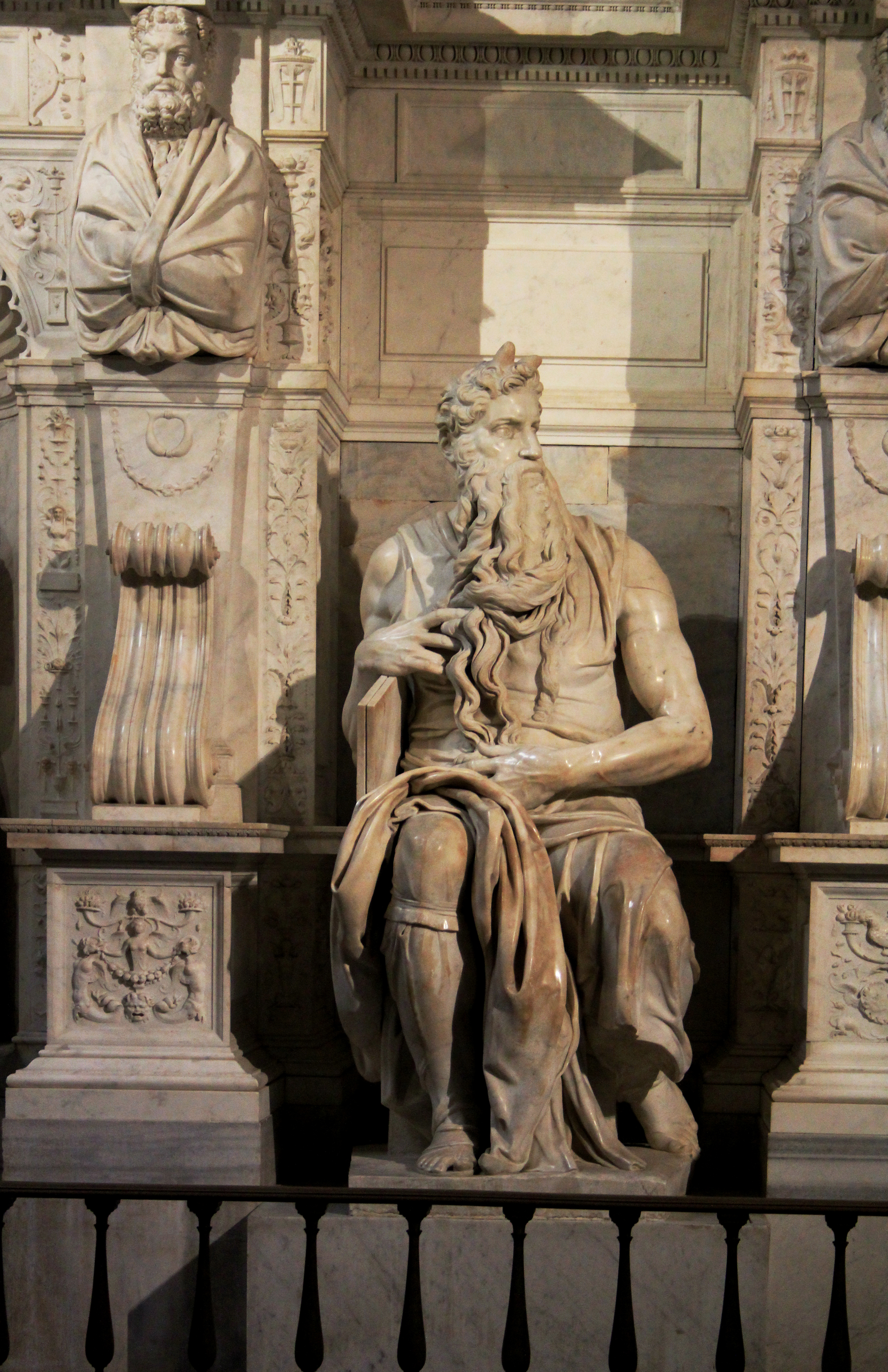 Michelangelo Buonarroti's sculpture  Moses  is housed in the church of San Pietro in Vincoli in Rome.