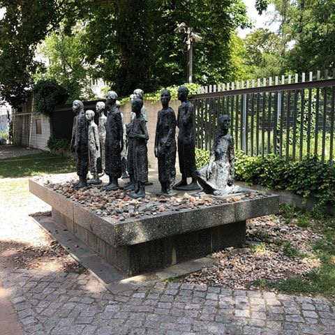 A memorial for the deported Jews of Berlin outside of what used to be the Jewish Cemetery. The memorial is in what used to be East Berlin and was put in place by the soviets.