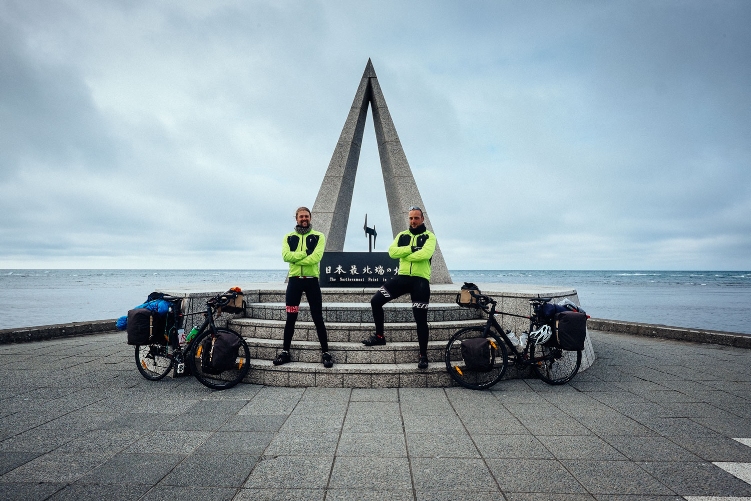 Me and Sio at the northernmost point of Japan. The end of unCOMMON:Wheels