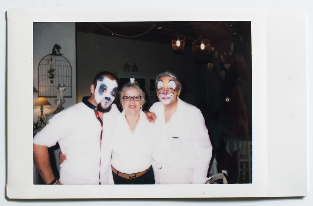 Turning 26, with mom and dad. Someone came up with the idea to facepaint everyone. Why the hell not!