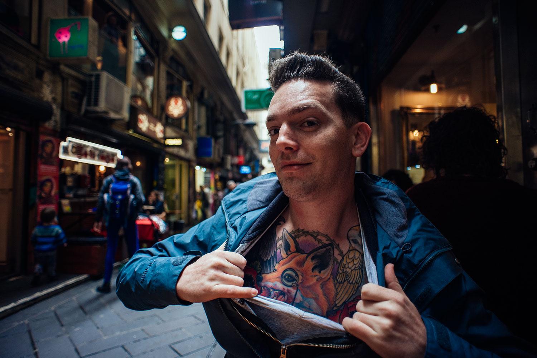 Michael, a super cool photographer of Melbourne
