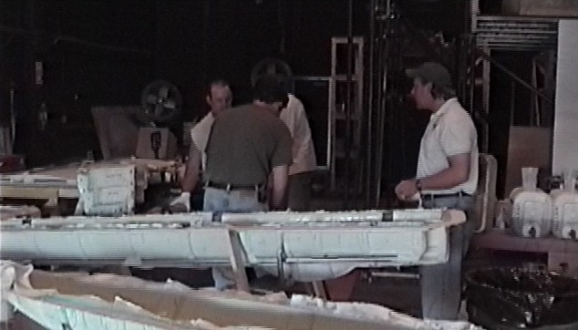 Joe Bok supervising his team during layup of the Aviator XF-11 fuselage and other XF-11 parts