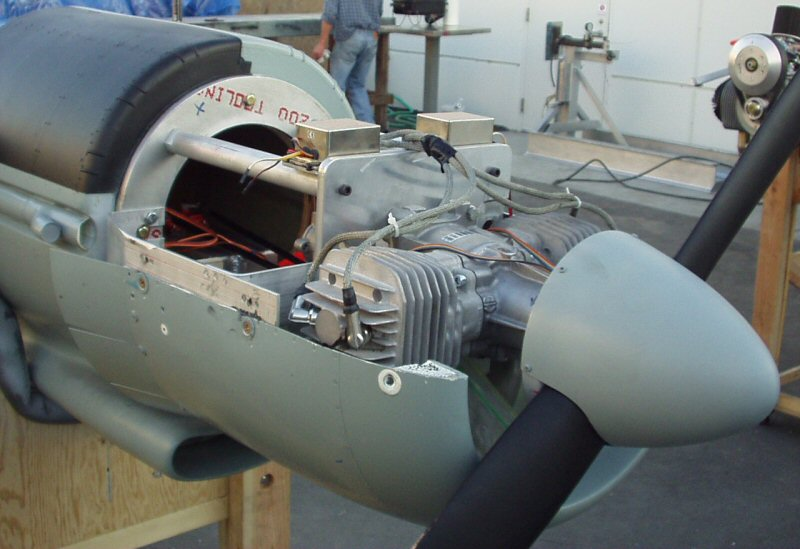 Post first flight XF-11 engine compartment close-up