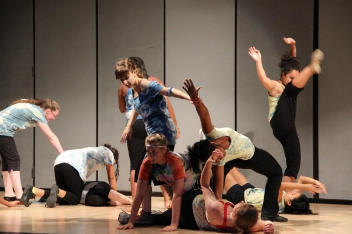 Week-long high school choreography workshop, Gluck Summer Camp for the Arts, UC Riverside, 2012