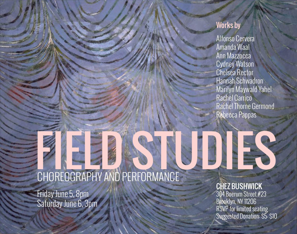 Field Studies - 2015. Painting by Julia Schwadron. Poster design by Amanda Waal.
