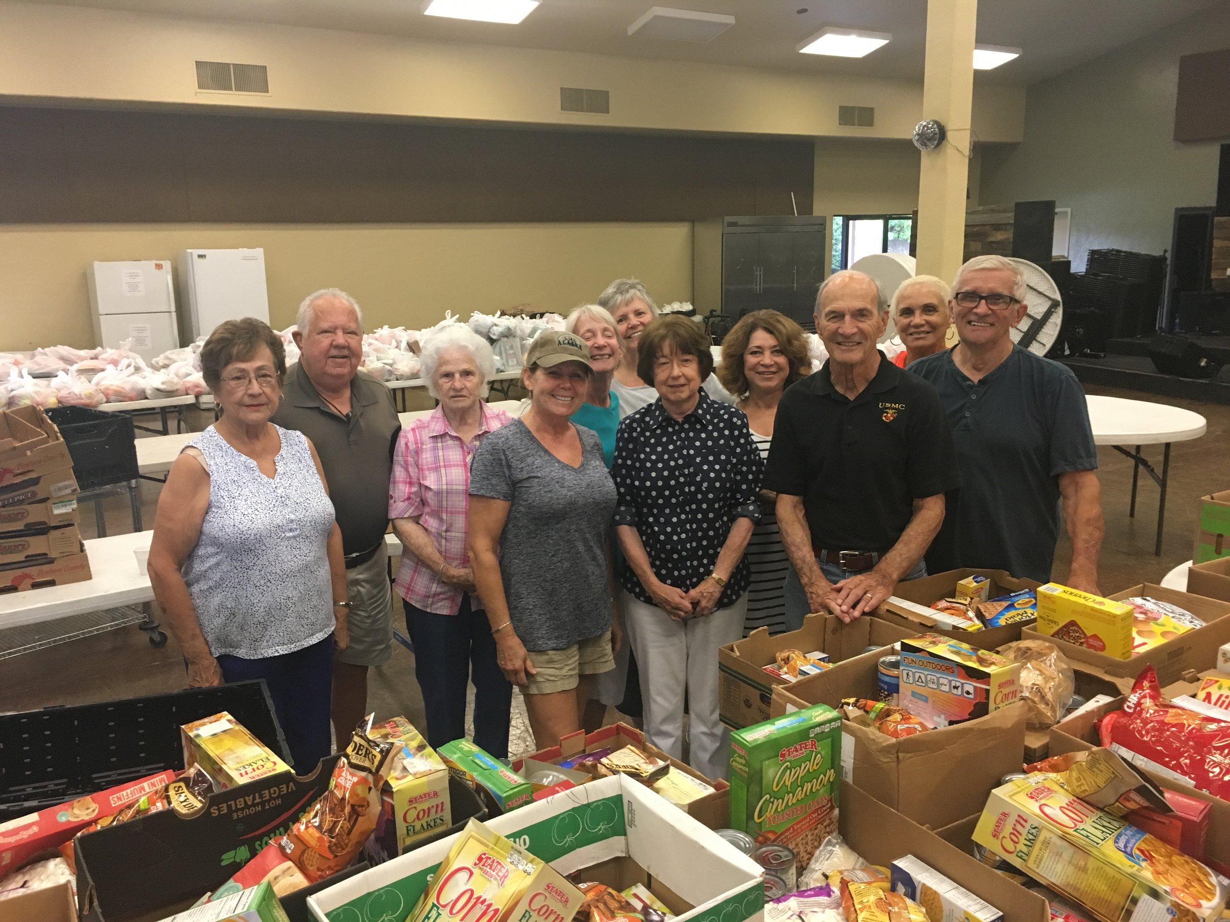 Crossroads church hunger project team: