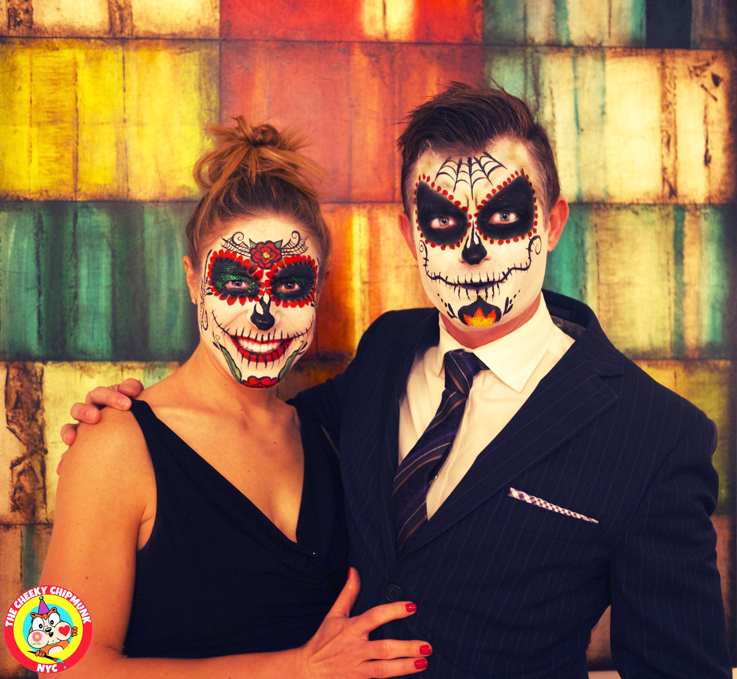 Chris and Amy sugar skulls