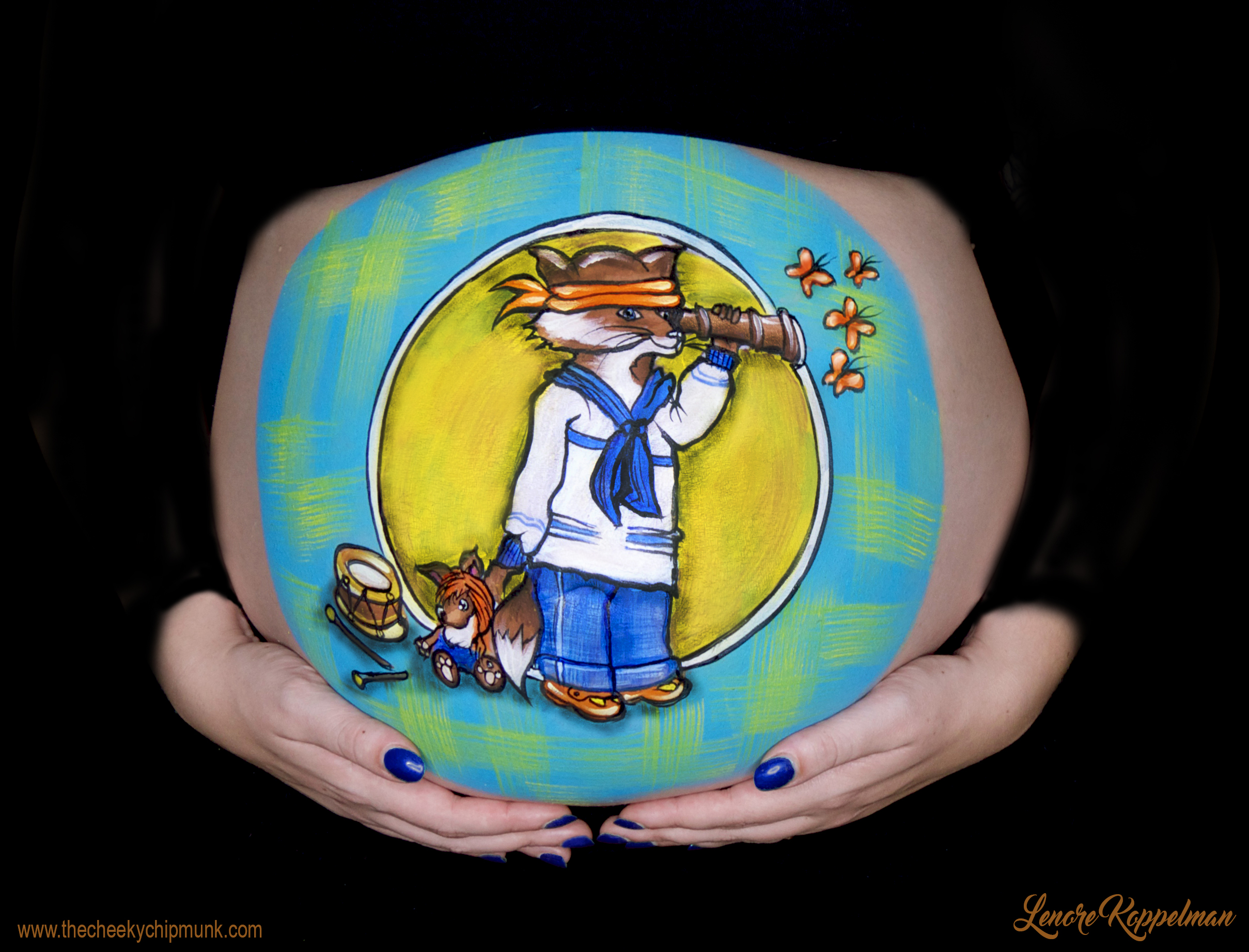 little fox belly painting melissa b.jpg