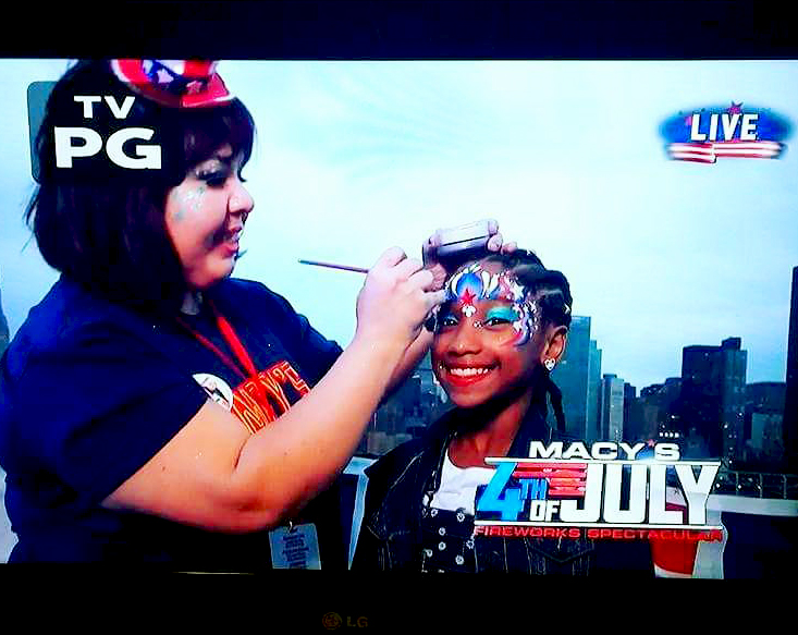 The Cheeky Chipmunk was the official face painting company for the Macy's 4th of July Fireworks Spectacular! (40th Anniversary, 2016.)