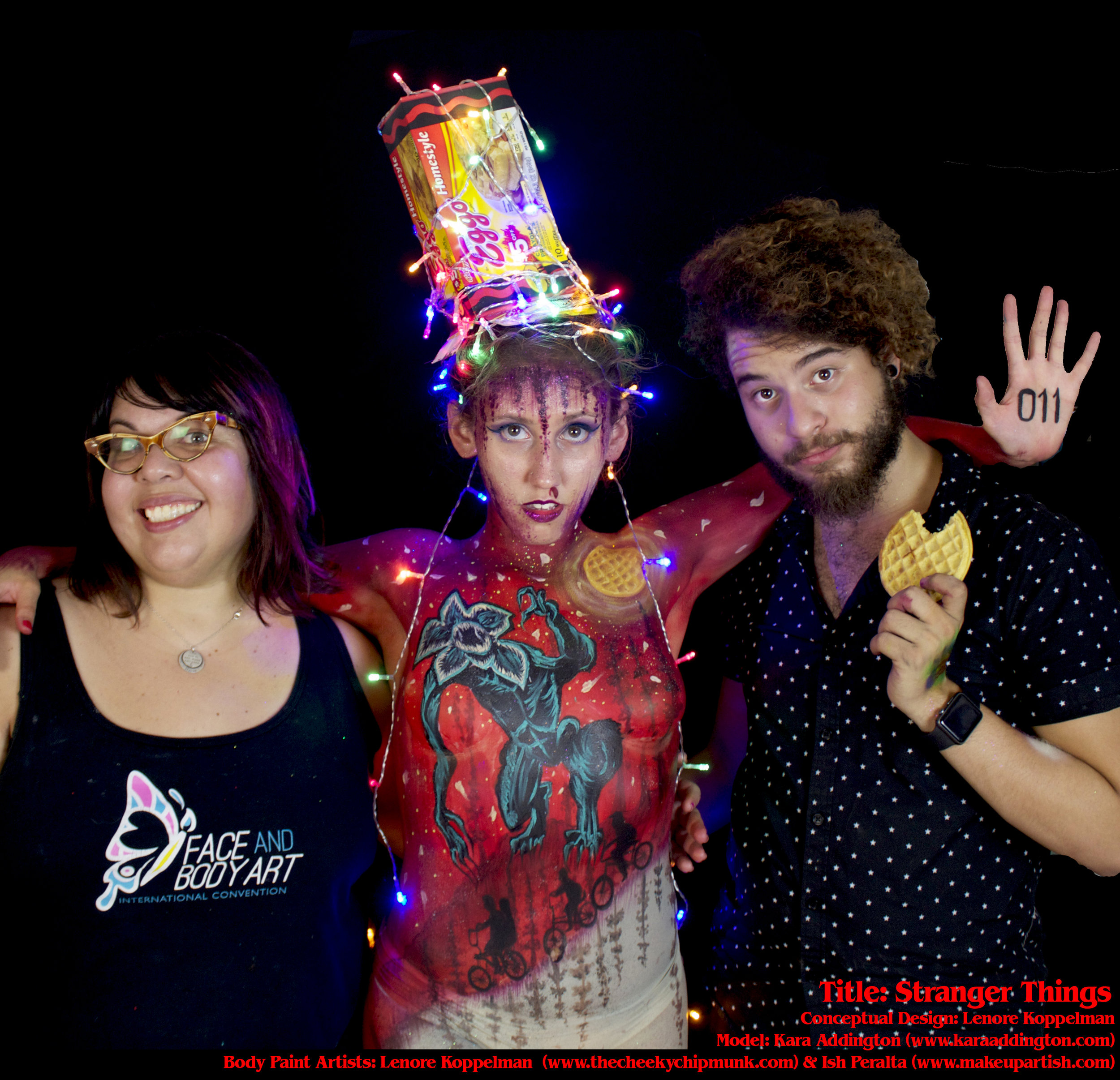 stranger things body painting group shot lenore kara ish.jpg