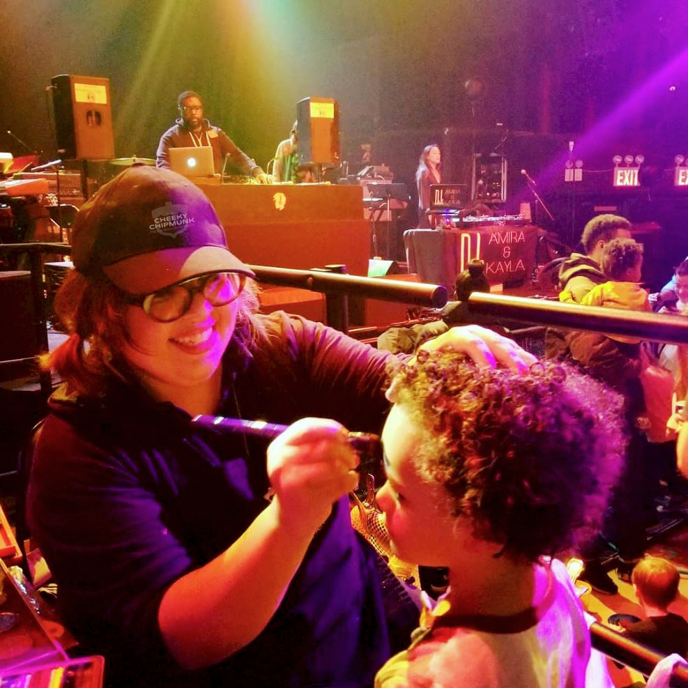 The Cheeky Chipmunk Team Face painting for vh1 save the music, featuring questlove & dj's amira & kayla. Gramercy theater, nyc.