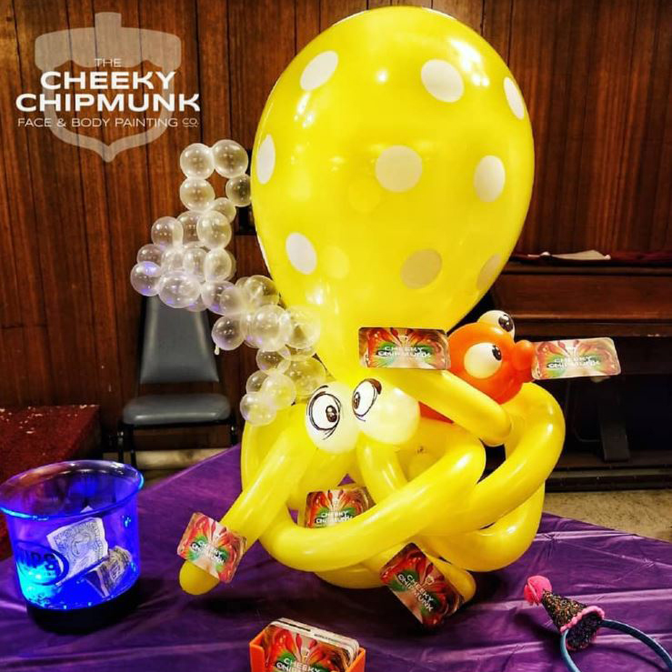 lenore-koppelman-the-cheeky-chipmunk-octopus-balloon-decor-twisting-fish-bubbles-synagogue-astoria-queens-nyc-business-cards-tip-jar
