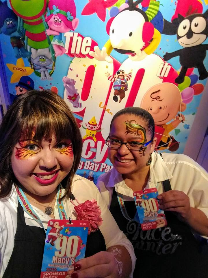 Face Painting for the  Macy's Thanksgiving Day Parade  festivities. Here we are at inflation celebration's vip party at the  museum of natural history !
