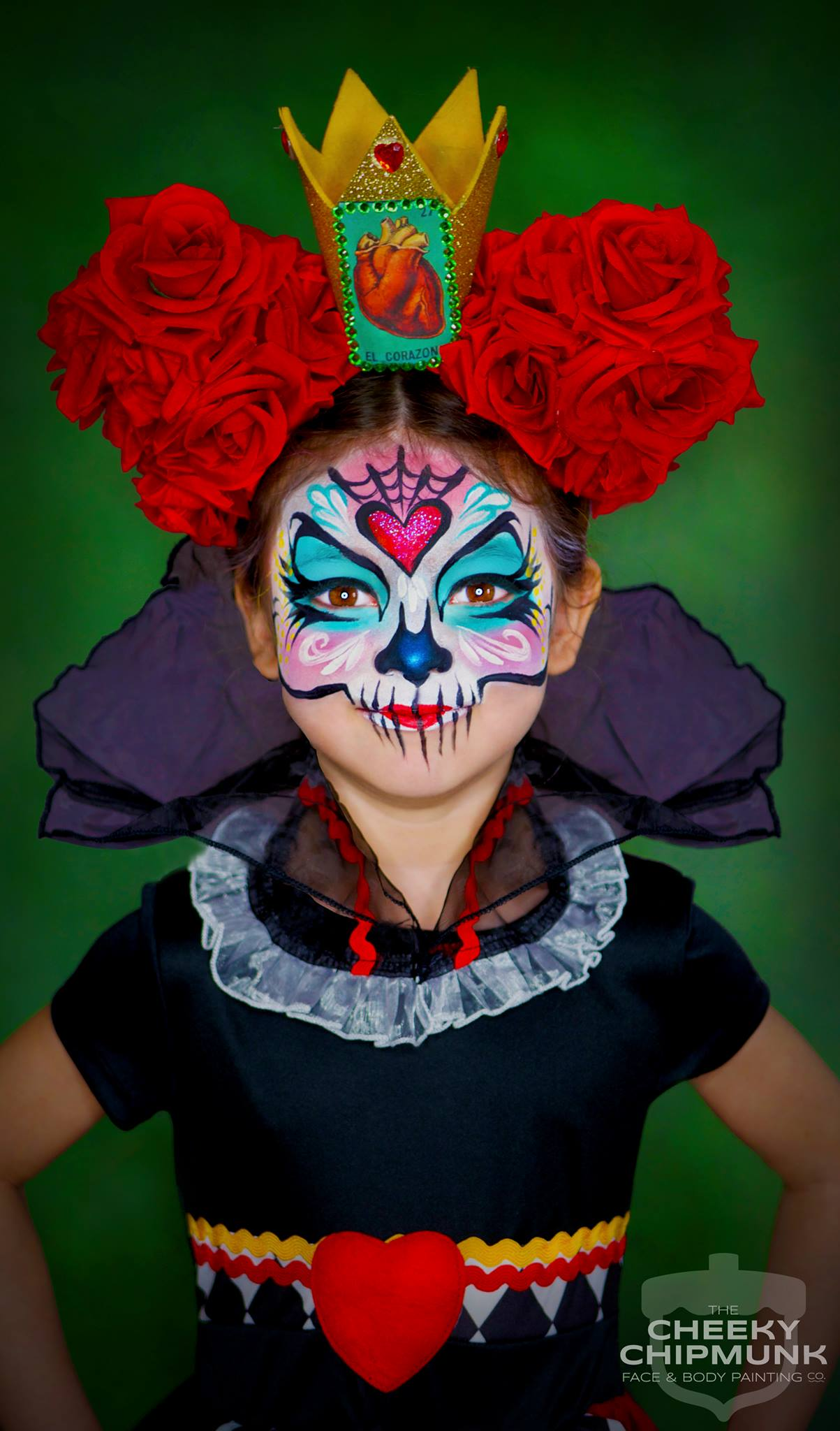 lenore-koppelman-the-cheeky-chipmunk-queen-of-hearts-sugar-skull-face-painting-calavera-roses-alice-in-wonderland-crown-heart-nyc