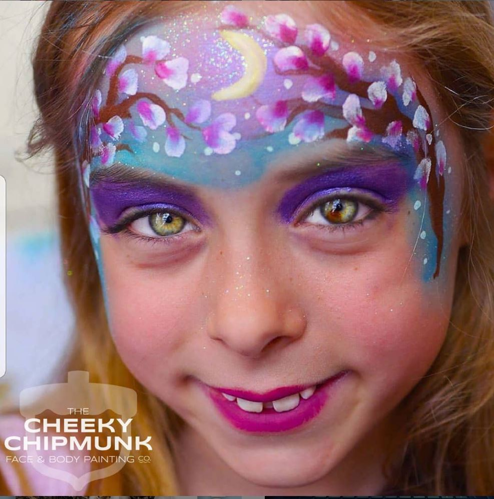 lenore-koppelman-the-cheeky-chipmunk-face-painting-nyc-cherry-blossoms-crescent-moon-summer-night-beautiful-eyes-little-girl