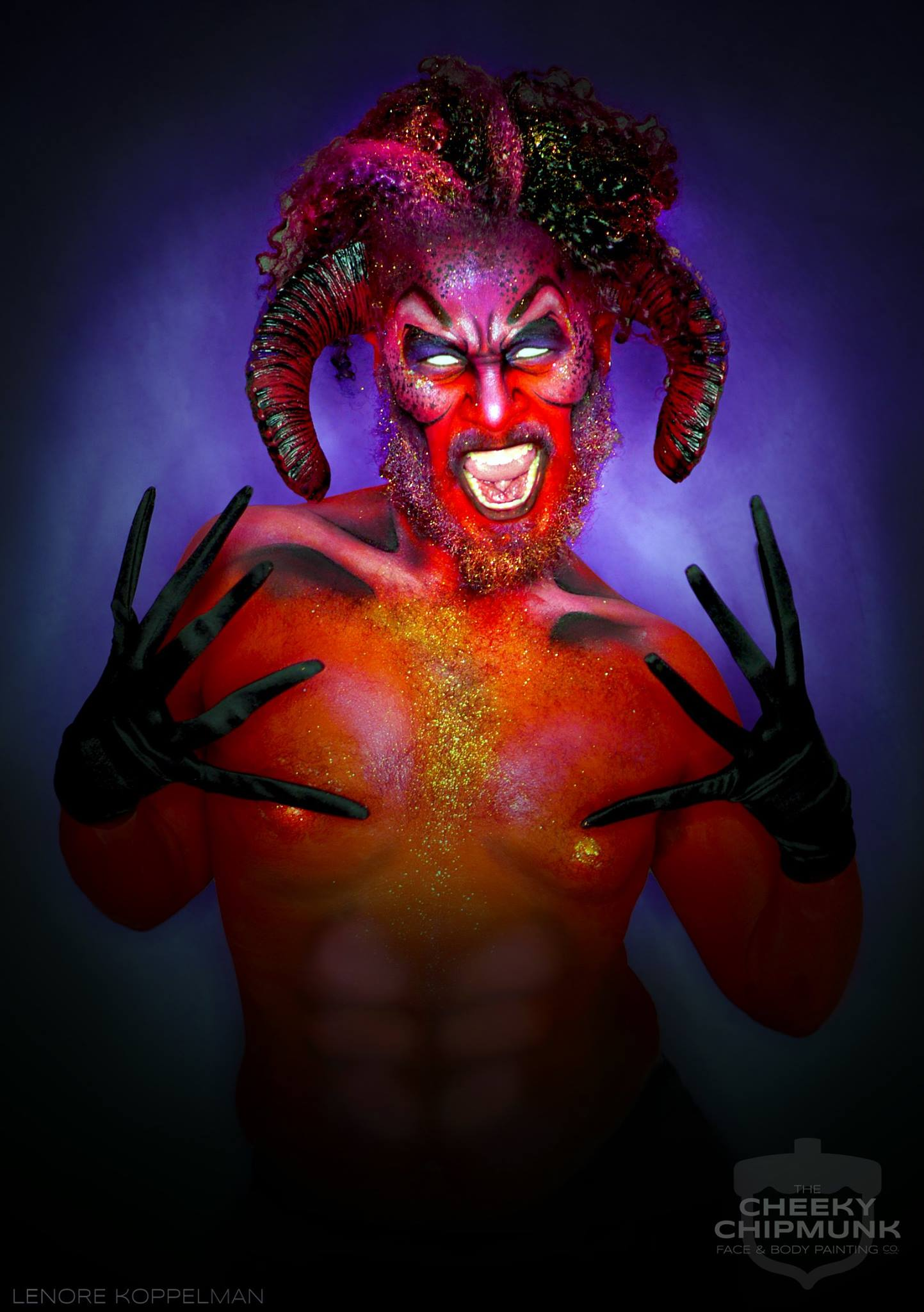 lenore-koppelman-the-cheeky-chipmunk-devil-satan-devilish-ish-red-horns-body-painting-sfx-makeup-halloween-nyc