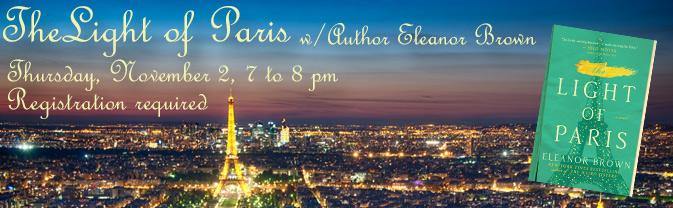 I'll be talking about  The Light of Paris  and my other books at the Longmont Public Library in Longmont, CO.   Register here!