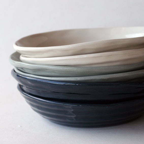 Ribbed Dinnerware for Ian Shields at Vic Rd Kitchen in Devonport, Auckland