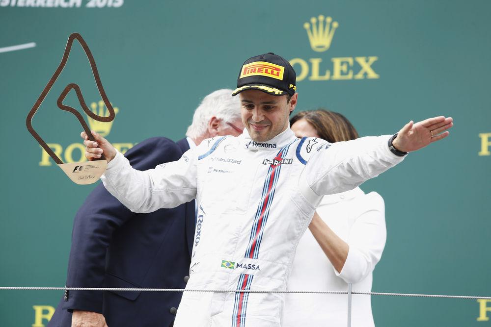 Happy man in the podium, Felipe Massa