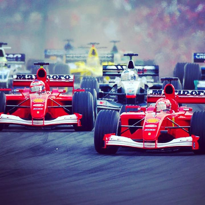 Start of the 2001 Hungarian Grand Prix.