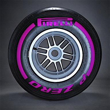 Pirelli Purple F1 tyre