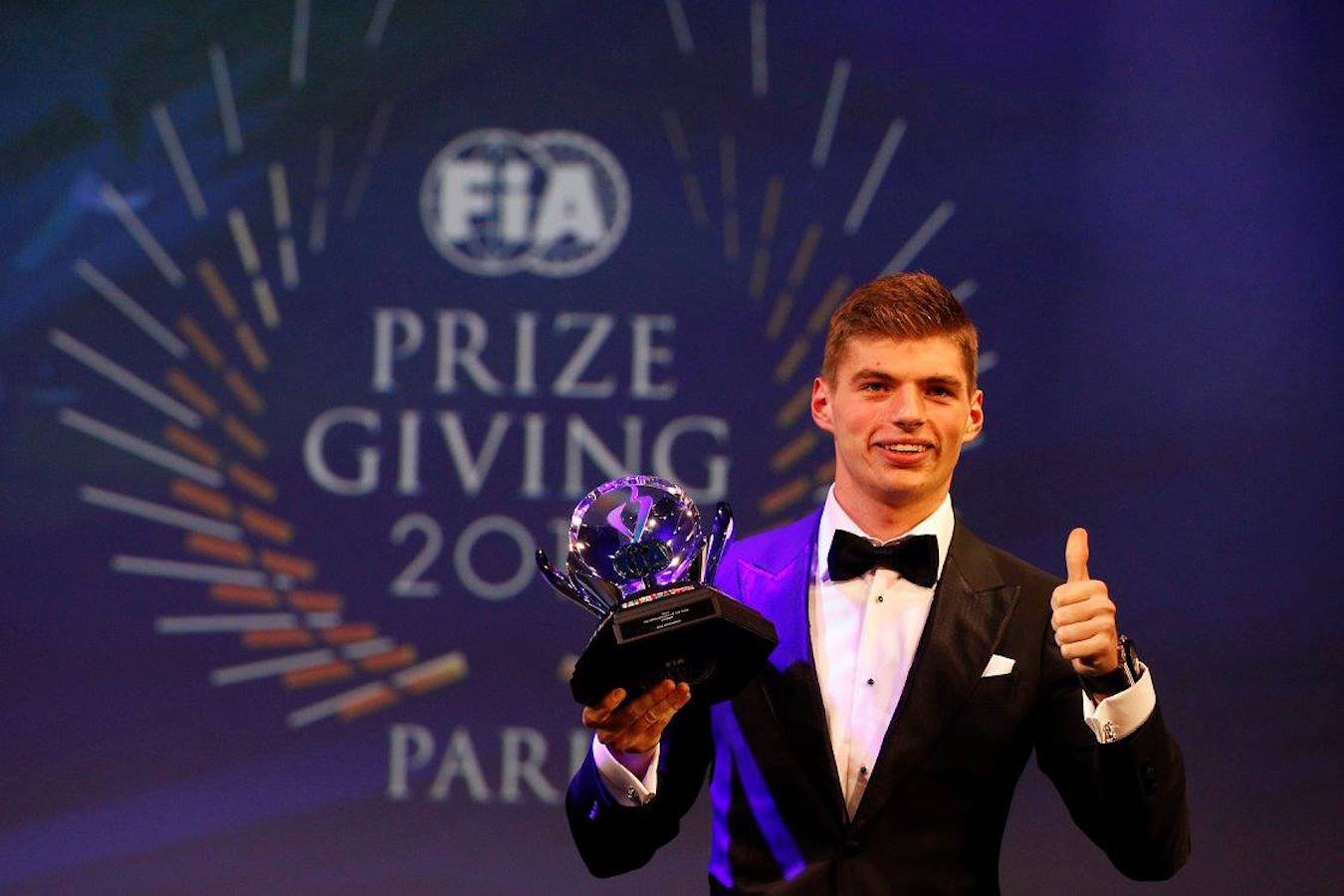 Max Verstappen wins Personality of the Year, Rookie of the Year and Action of the Year at the 2015 FIA awards.jpg