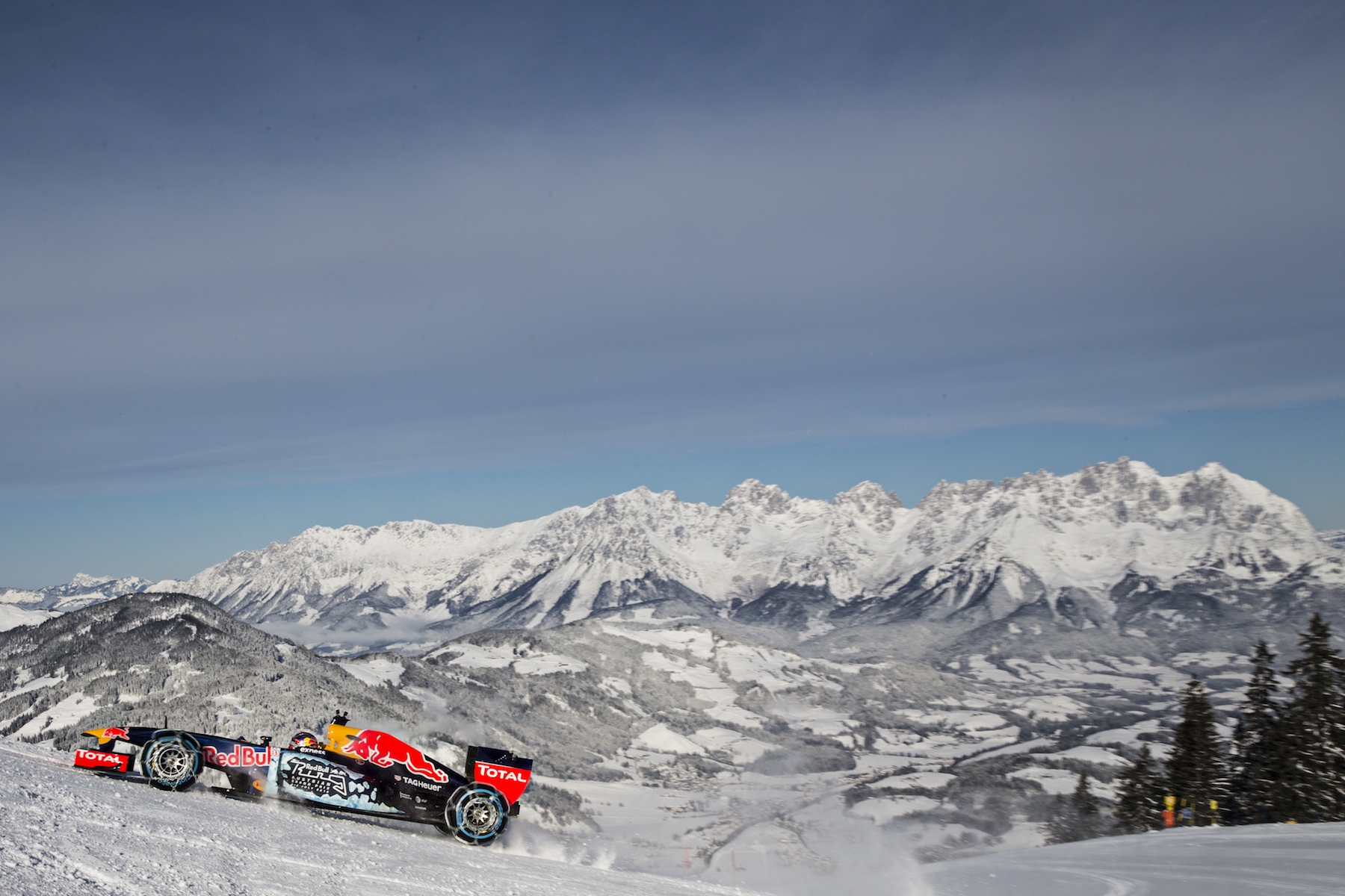 The Red Bull RB7 in beautiful Austria