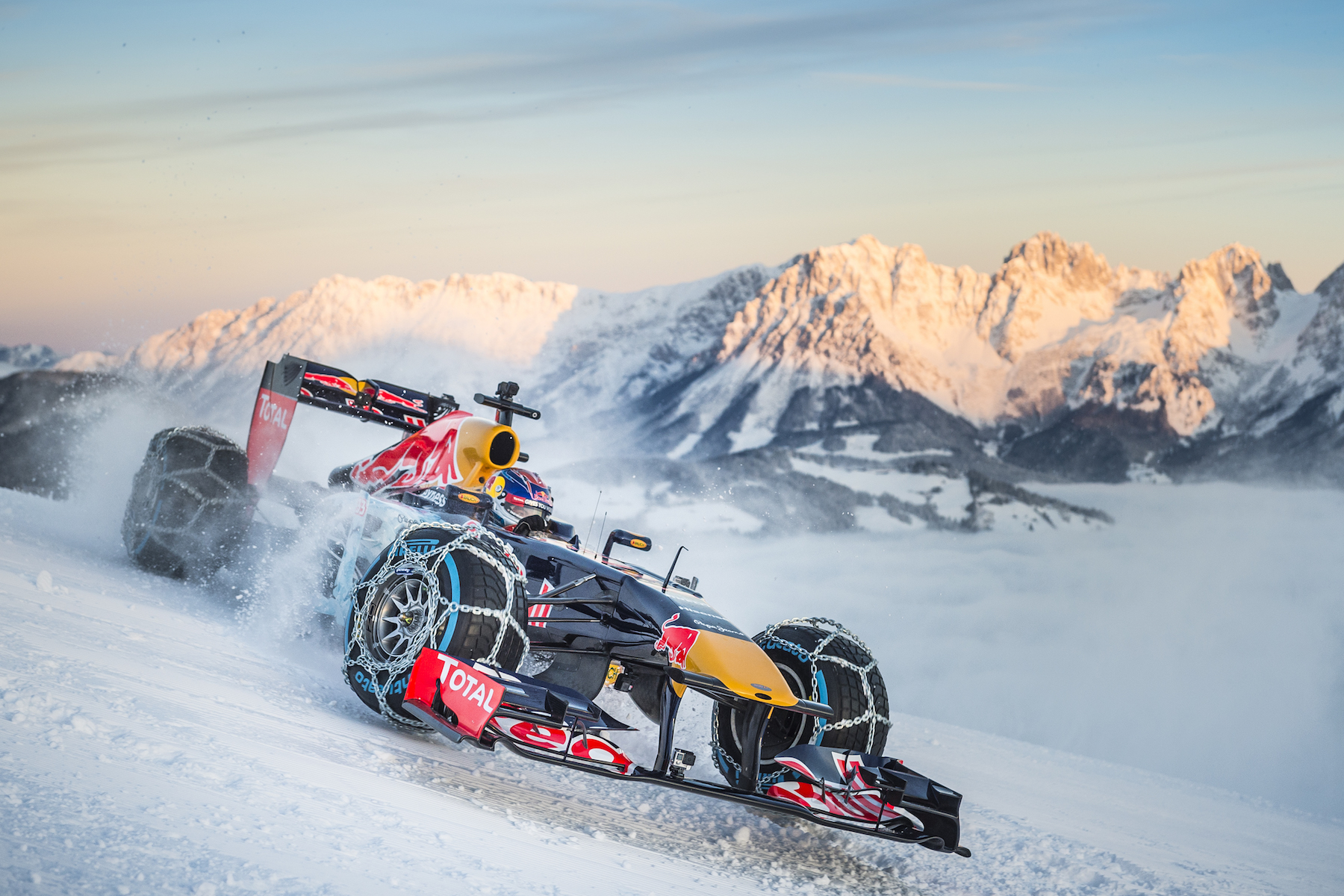 Max Verstappen snow run in Austria