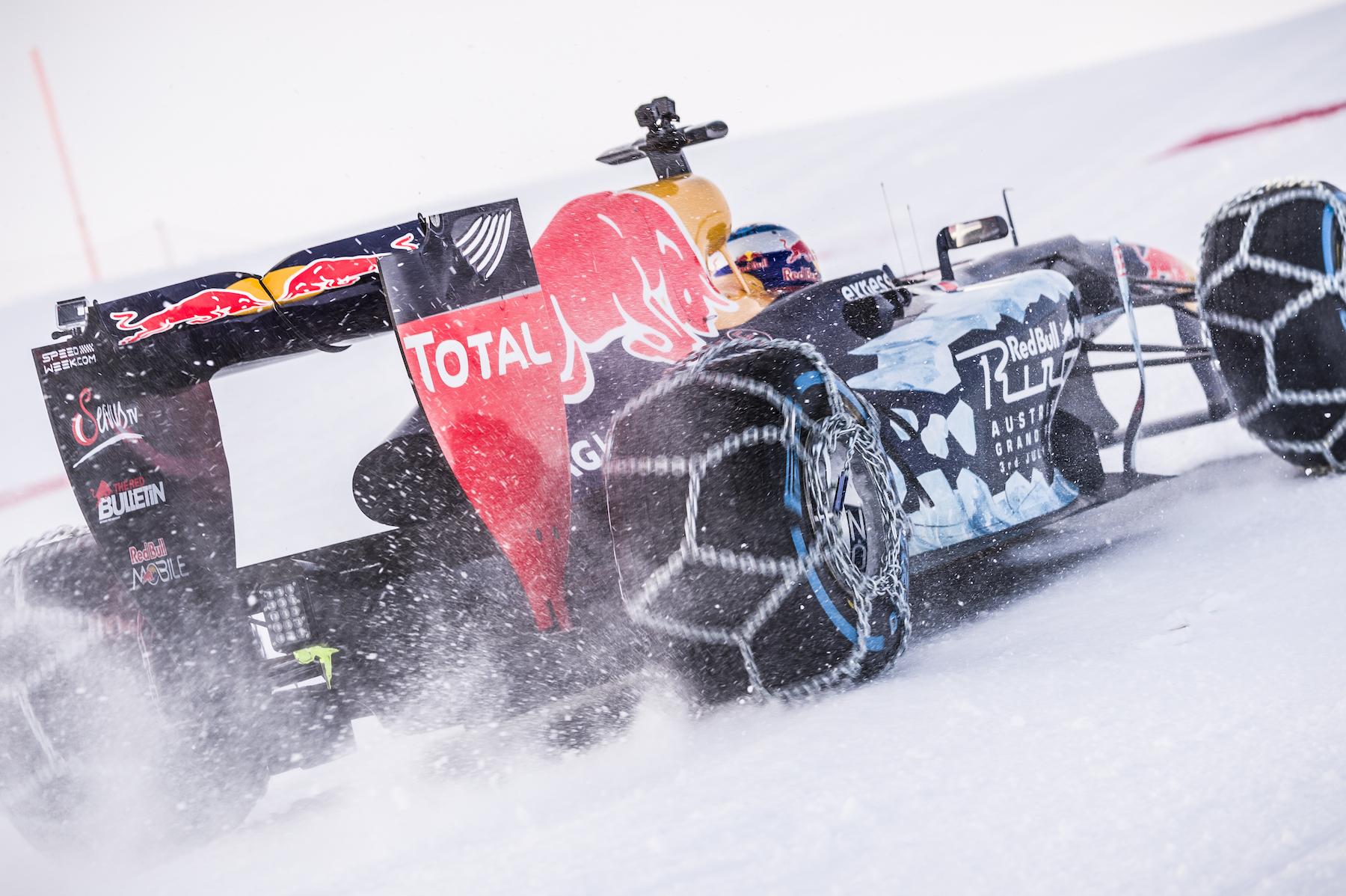 Max Verstappen snow show in Austria