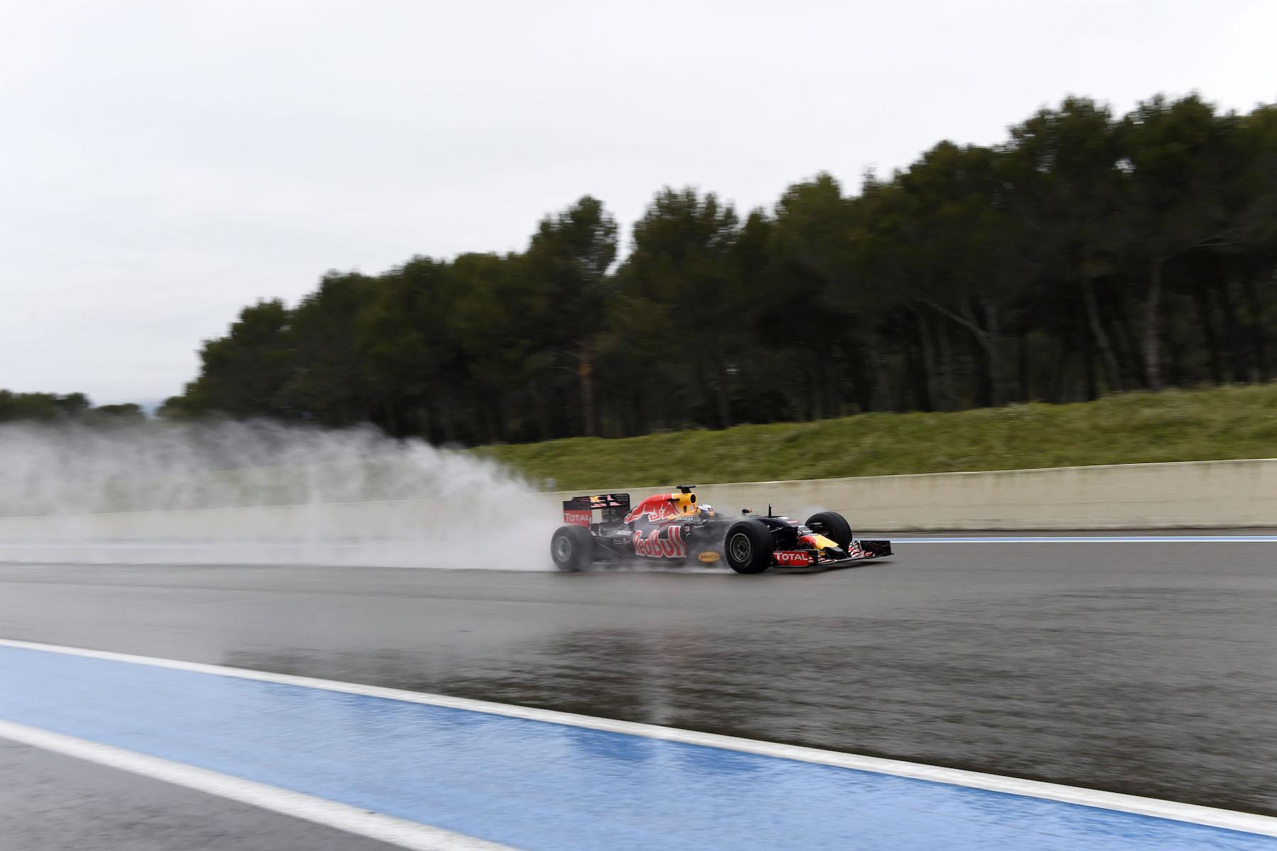 Daniel Ricciardo at speed in France