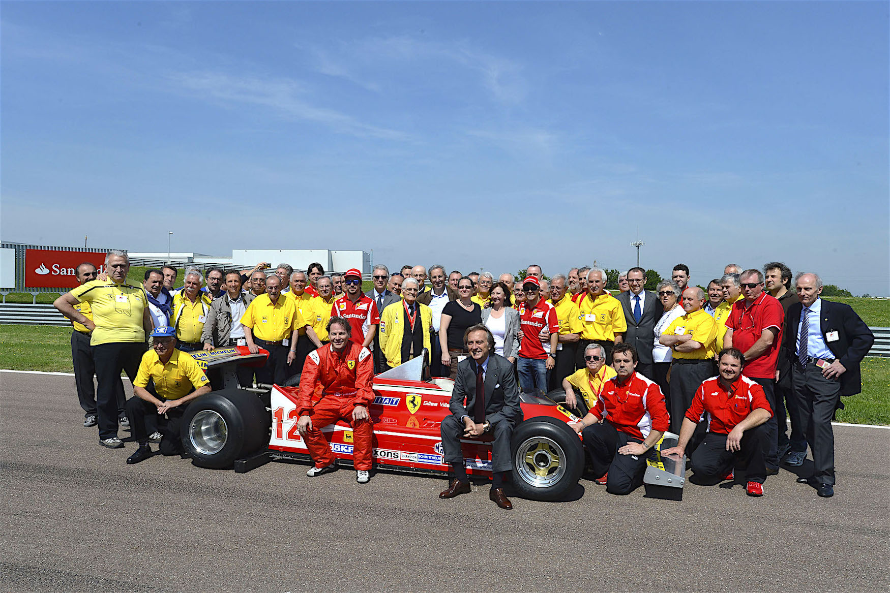 Ferrari crew at Fiorano 2012