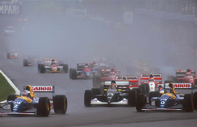 1993 European Grand Prix start at Donington Park