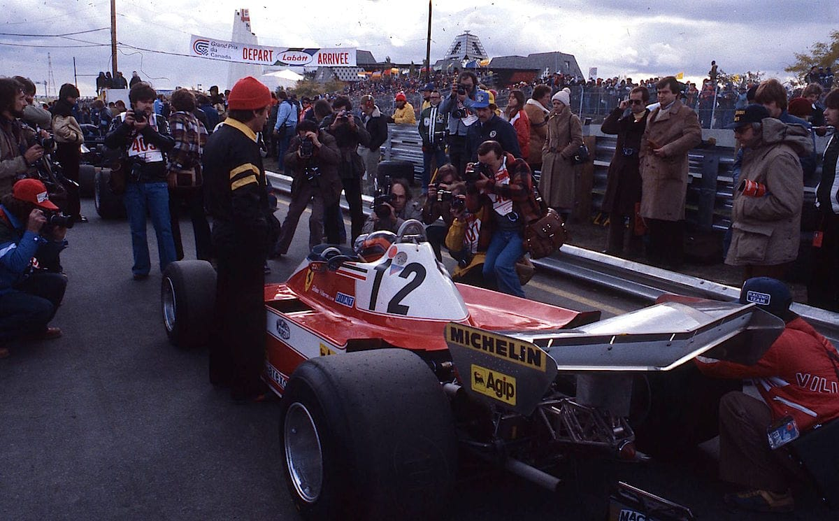 Salracing - Gilles on his way to the grid | Canada 1978