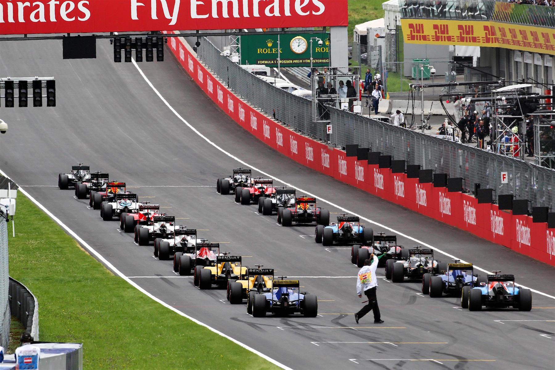 Salracing - The 2016 Austrian GP Starting Grid