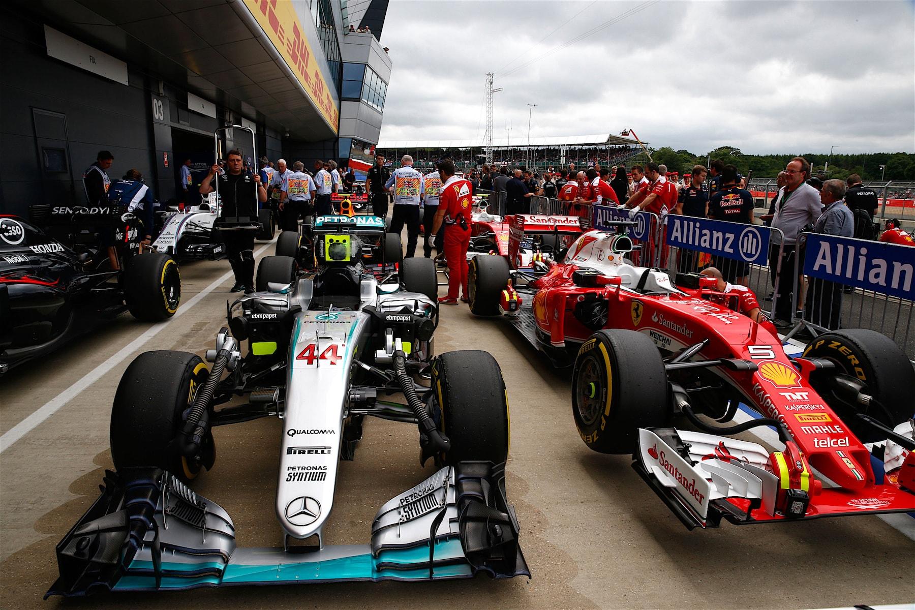 Salracing | British Grand Prix cars after the race