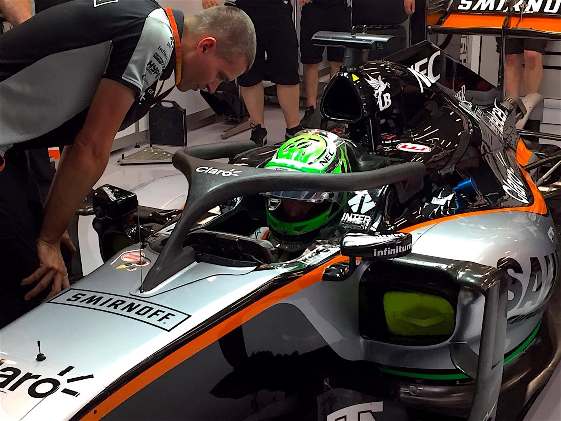 Salracing - Nico Hulkenberg's Force India with halo