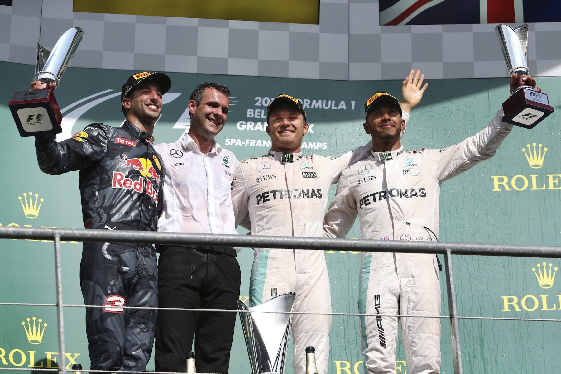 Salracing - Belgian Grand Prix podium