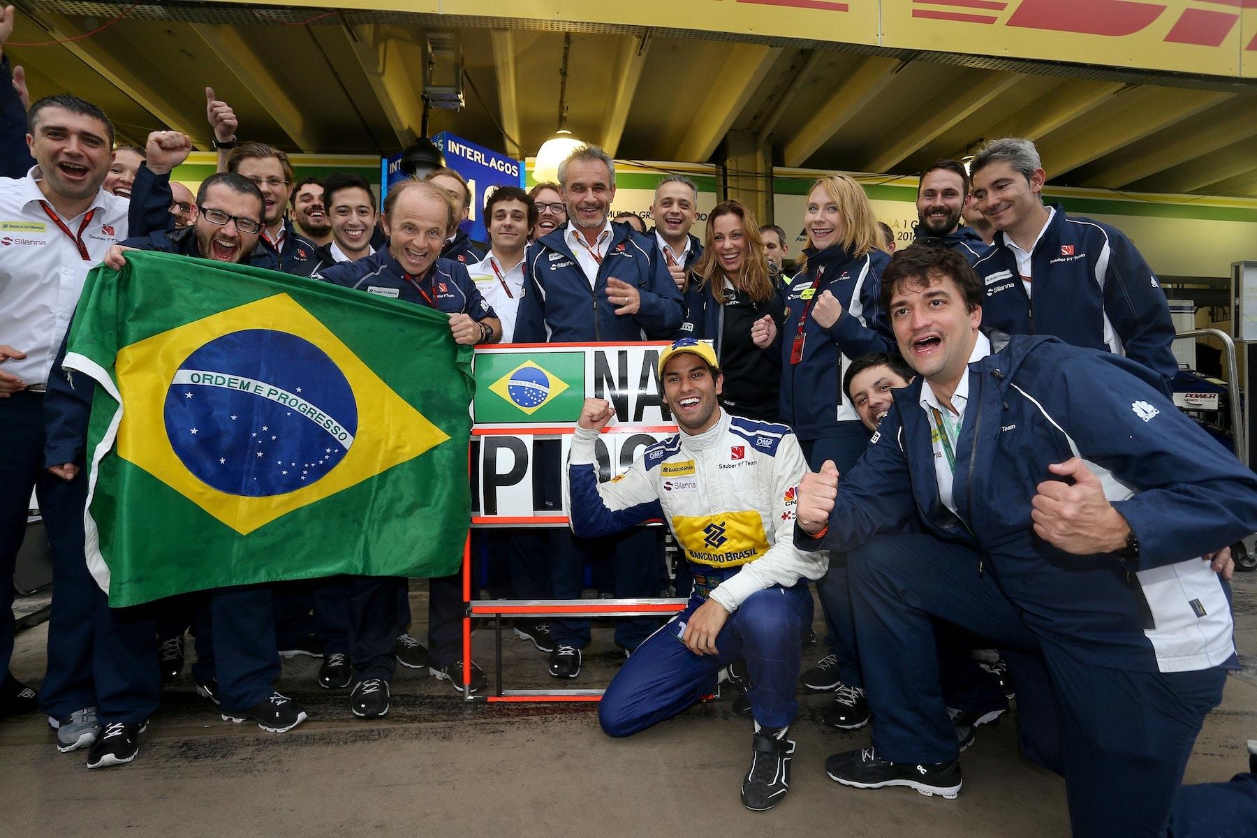 Salracing - Felipe Nasr P9 celebration at Sauber F1 Team