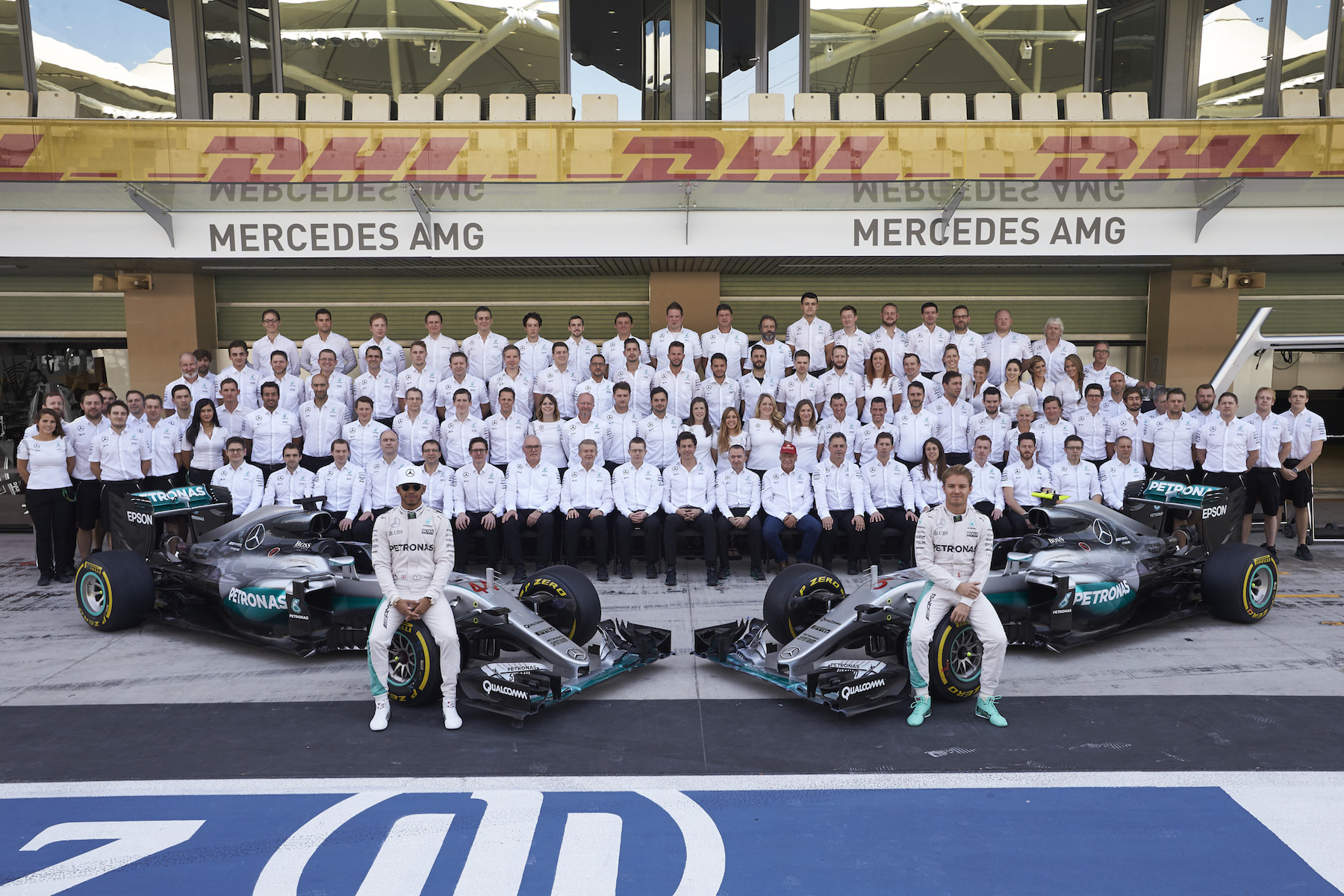 Salracing - Mercedes AMG Petronas family photo