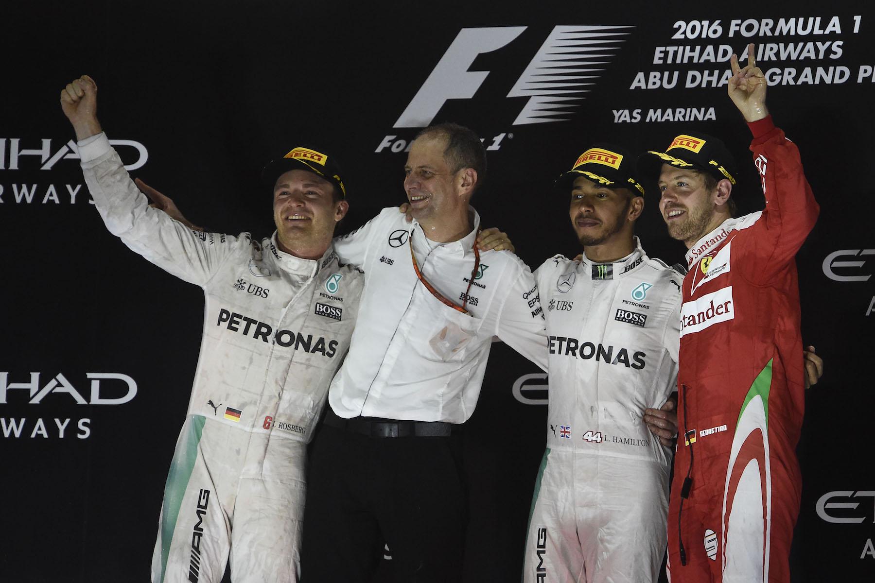 Salracing - The 2016 Abu Dhabi Grand Prix podium