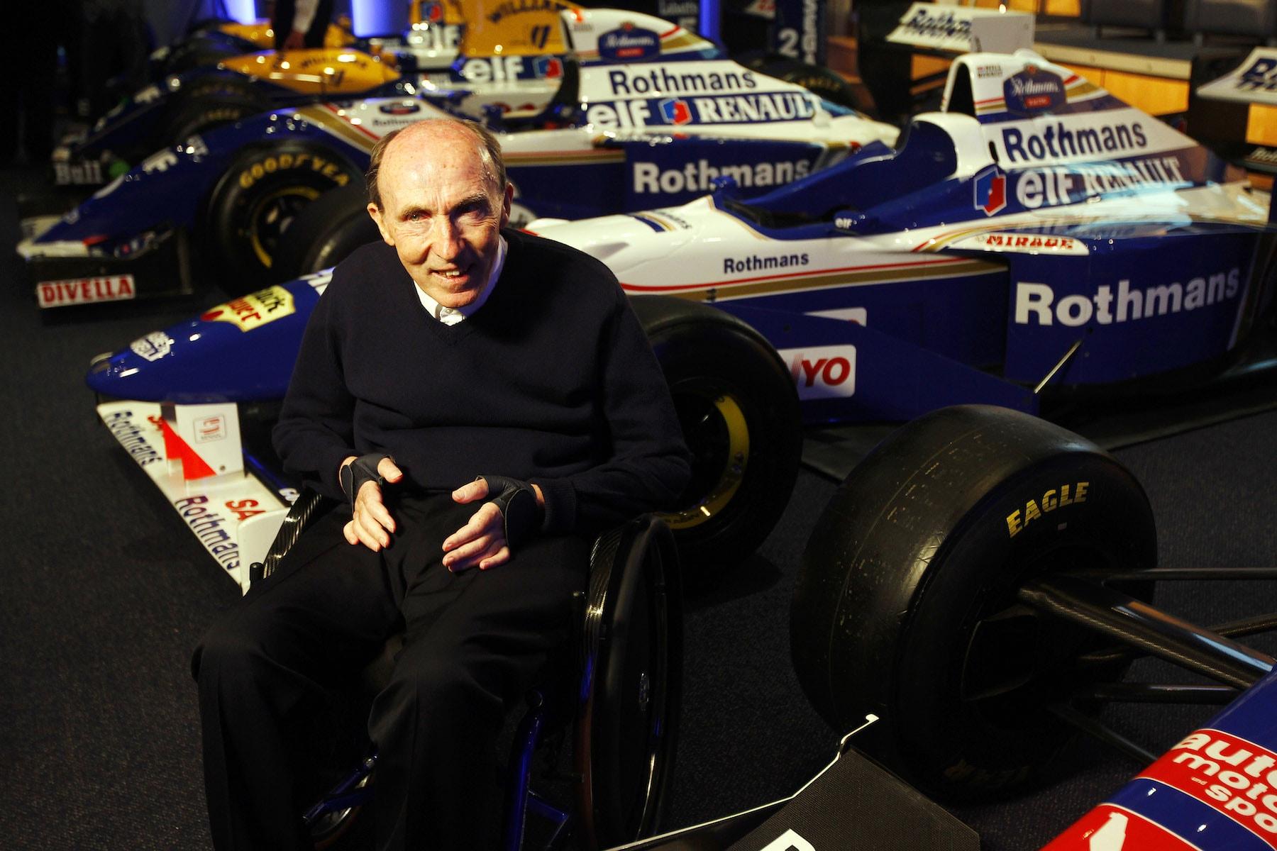 Sir Frank Williams and his cars.jpg