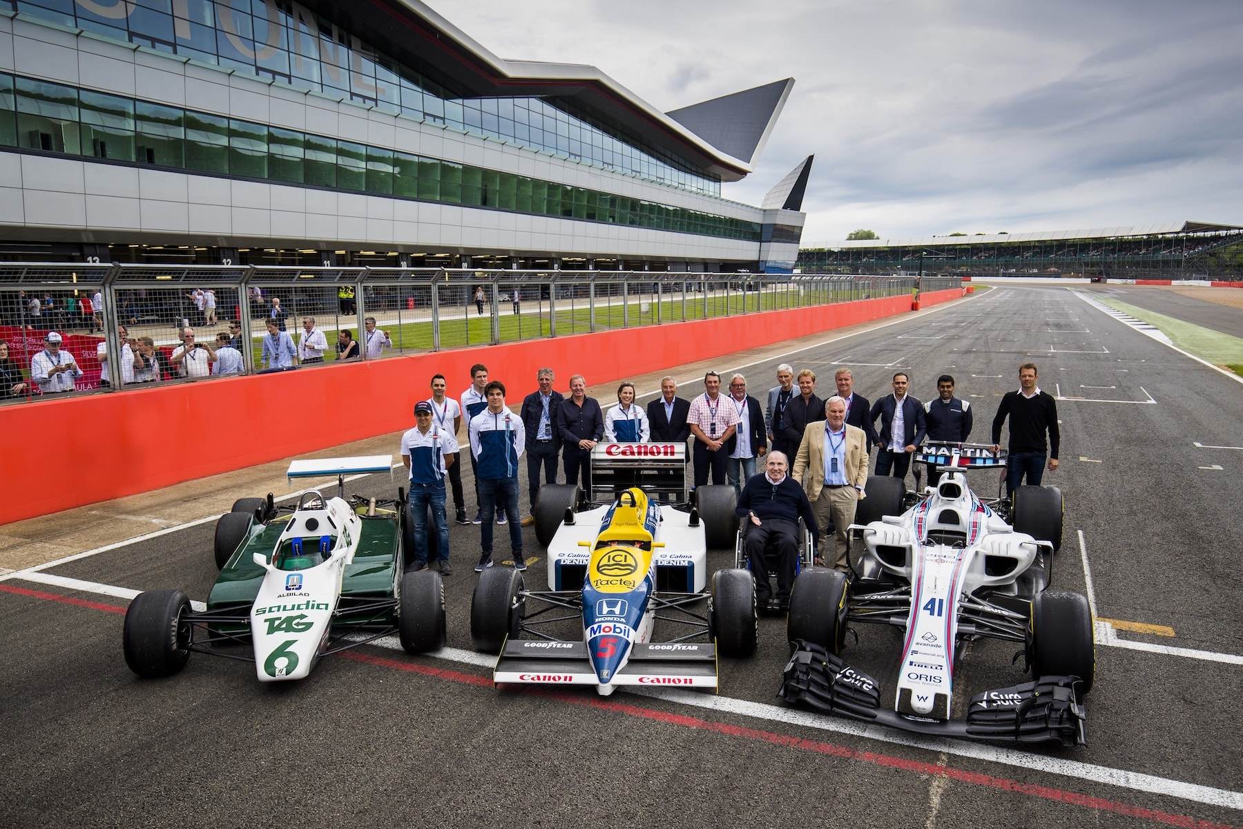Frank Williams cars at Silverstone 2017.jpg