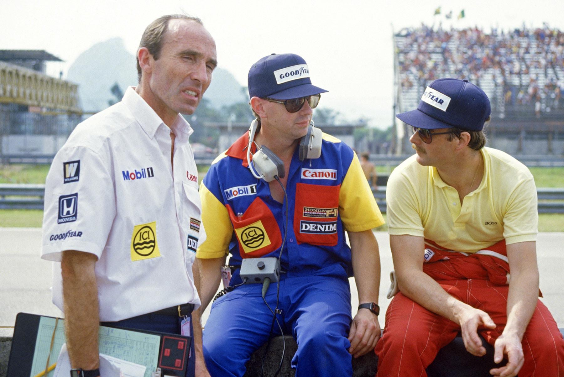 1985 Frank Williams with Nigel Mansell.jpg
